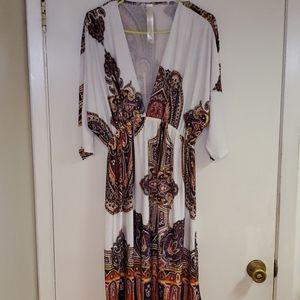 Christina Love Bohon inspired Paisley print dress